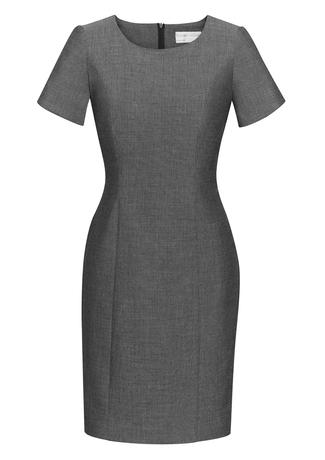 30312  shift dress  $95.65  63% polyester 33% viscose 4% elastane  grey   SIZES : 4 6 8 10 12 14 16 18 20 22