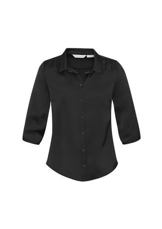 s313lt  shimmer blouse  $46.20  100% polyester satin  black   SIZES : 6 8 10 12 14 16 18 20 22 24 26