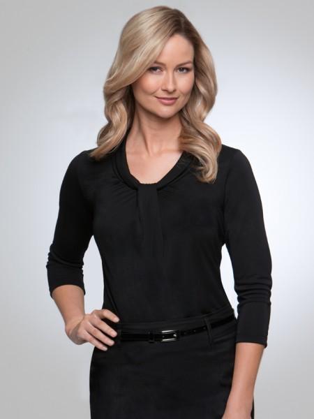 2221   pippa 3/4 sleeve   $61.50  100% Polyester matte jersey    black    SIZES  : XXS  XS  S  M L  XL  2xL  3xl 4xl