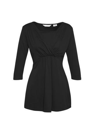k317lt  trapeze top maternity  $38.75  100% polyester knit  black   SIZES : s m l xl