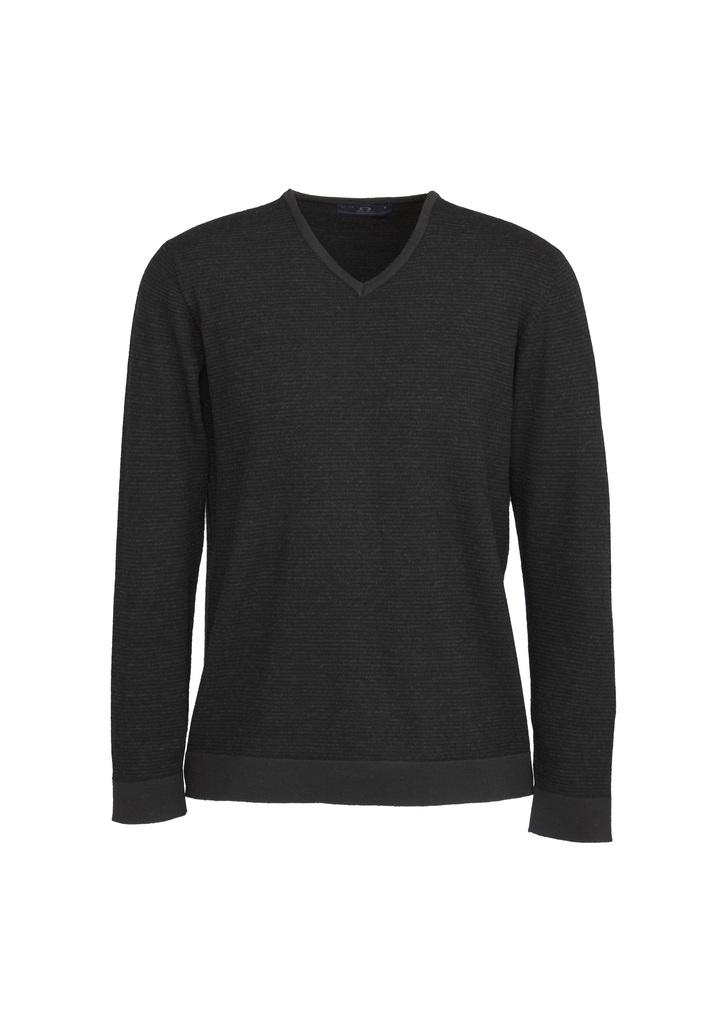 WP131ML  MEN'S origin merino pullover  $101.75  100% merino wool  black/grey stripe    SIZES : xs S M L XL 2XL 3XL 5XL