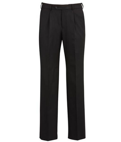 70114   Men's one pleat pant   $69.20   92%polyester 8%bamboo  black    sizes:  77r - 112r