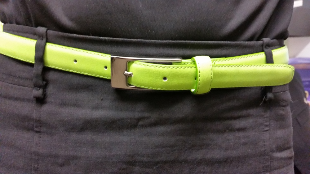 FBCO      ladies lacey belt  lime green     $25.85   sizes :   32   34   36   38