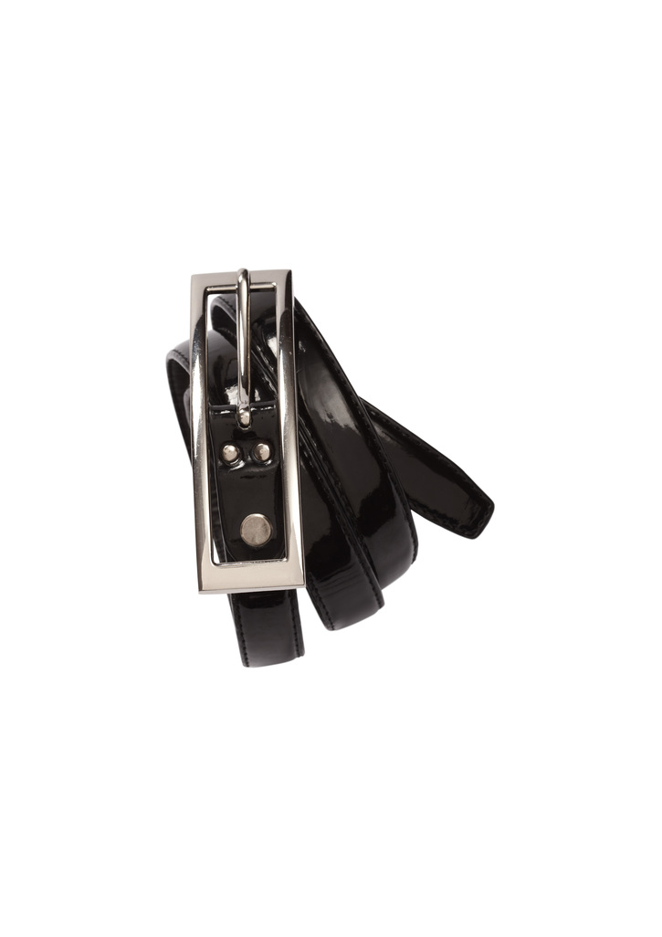 bb10920      ladies SEMI-PATENT BELT    black     $17.35   SIZES :   8   12   16   20   24   28