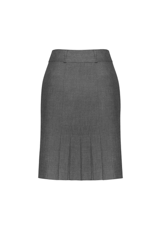20316      feature pleat skirt      $79.70  63% polyester   3% viscose   4% elastane    grey   SIZES  : 4   6   8   10   12   14   16   18   20   22   24   26