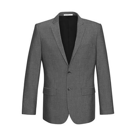 80313   Men's Slim line 2 Button Jacket   $166.95   63%polyester 33% viscoseI4 elastane  grey    SIZES  : 92R - 127R