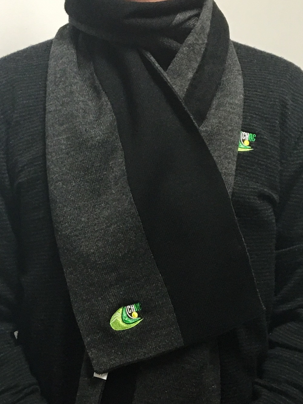 SC104  Men's and Ladies scarf  I   ash/black  I  $19.20  Sizes : one size fits all