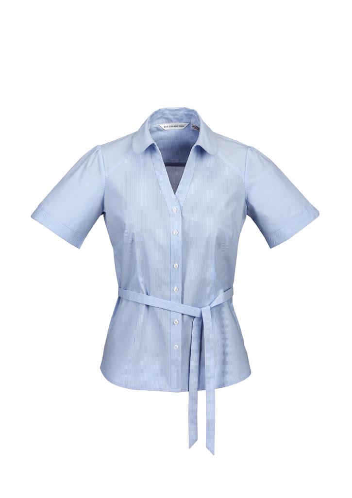 s261ls  LADIES y-line shirt  61% COTTON 35% POLYESTER 4%ELASTANE  I  BLUE    SIZES  : 6  8  10  12  14  16  18  20 22 24 26