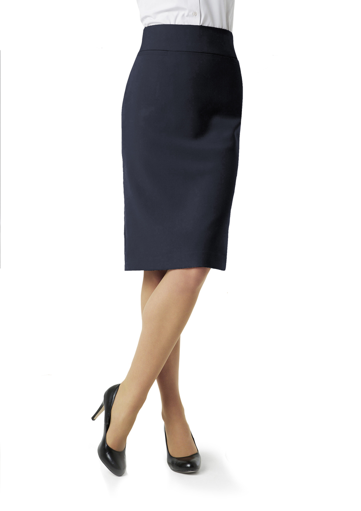 BS2933LADIES EASY CARE SKIRT  65% POLYESTER 35% VISCOSE I  NAVY    SIZES  :6 8 10 12 14 16 18 20 22 24 26