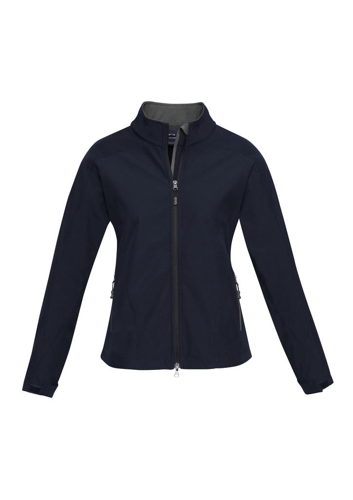 j307L   ladies soft shell jacket i  navy graphite  100% breathable polyester   SIZES : S  M  L  XL  2XL