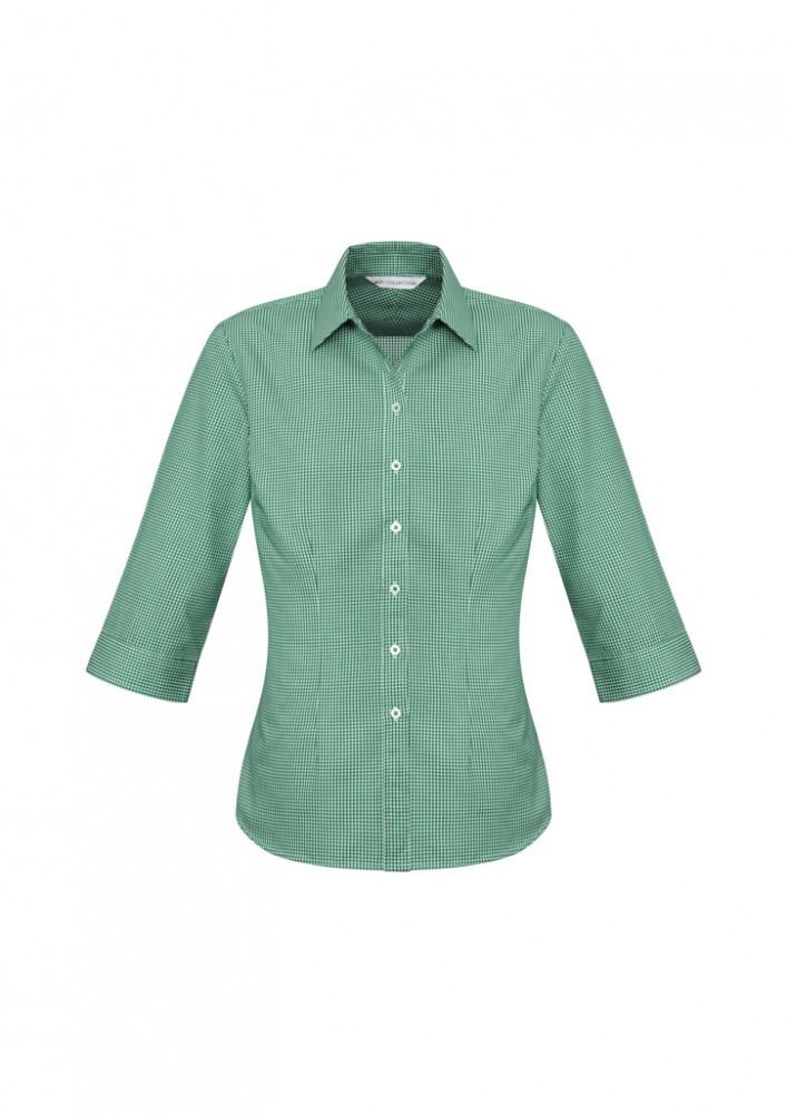 s716lt  ellison check  $41.51  55% cotton 45% polyester  green/white   sIZES : 6 8 10 12 14 16 18 20 22 24