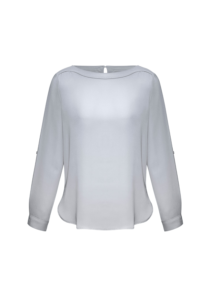 S828LL  Madison boatneck  $53.40  100% polyester Mechanical Stretch  SILVER mist   SIZES : 6 8 10 12 14 16 18 20 22 24 26