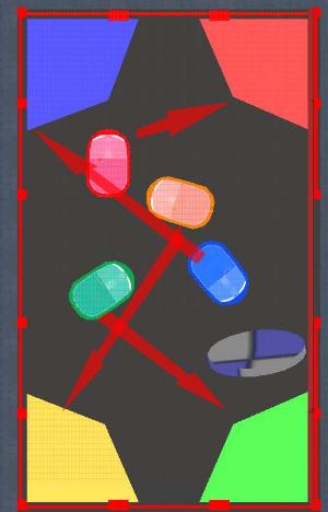 Bumper Car puzzle layout