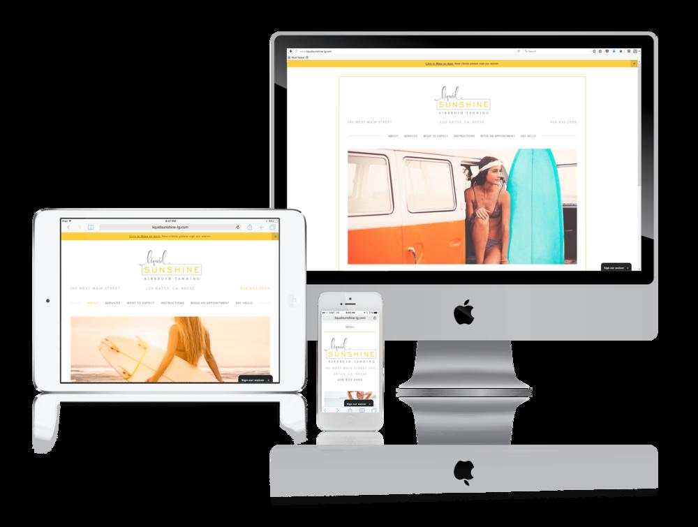 Squarespace Salon Website Example
