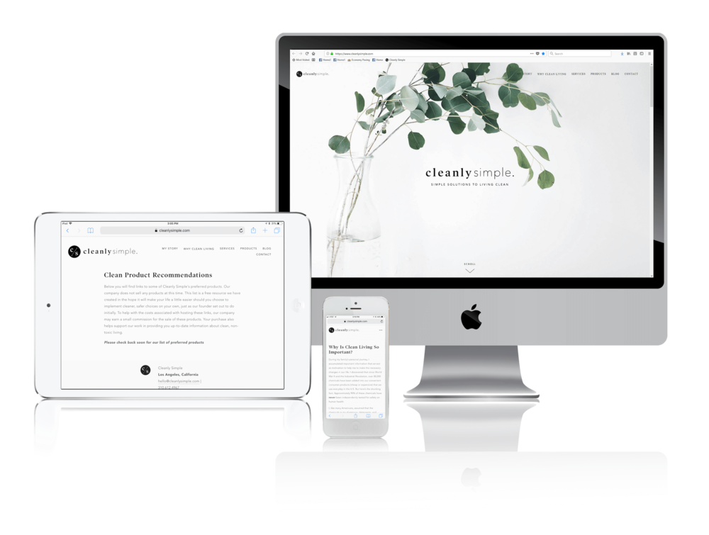 Squarespace for Clean Living