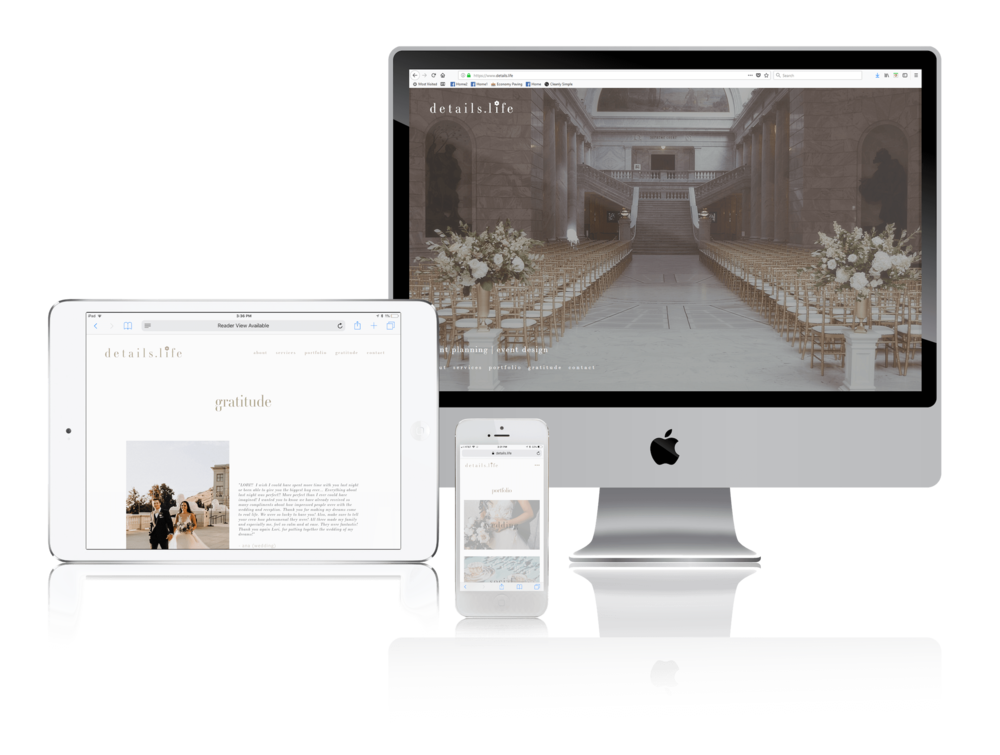 Squarespace for Event Planning and Design