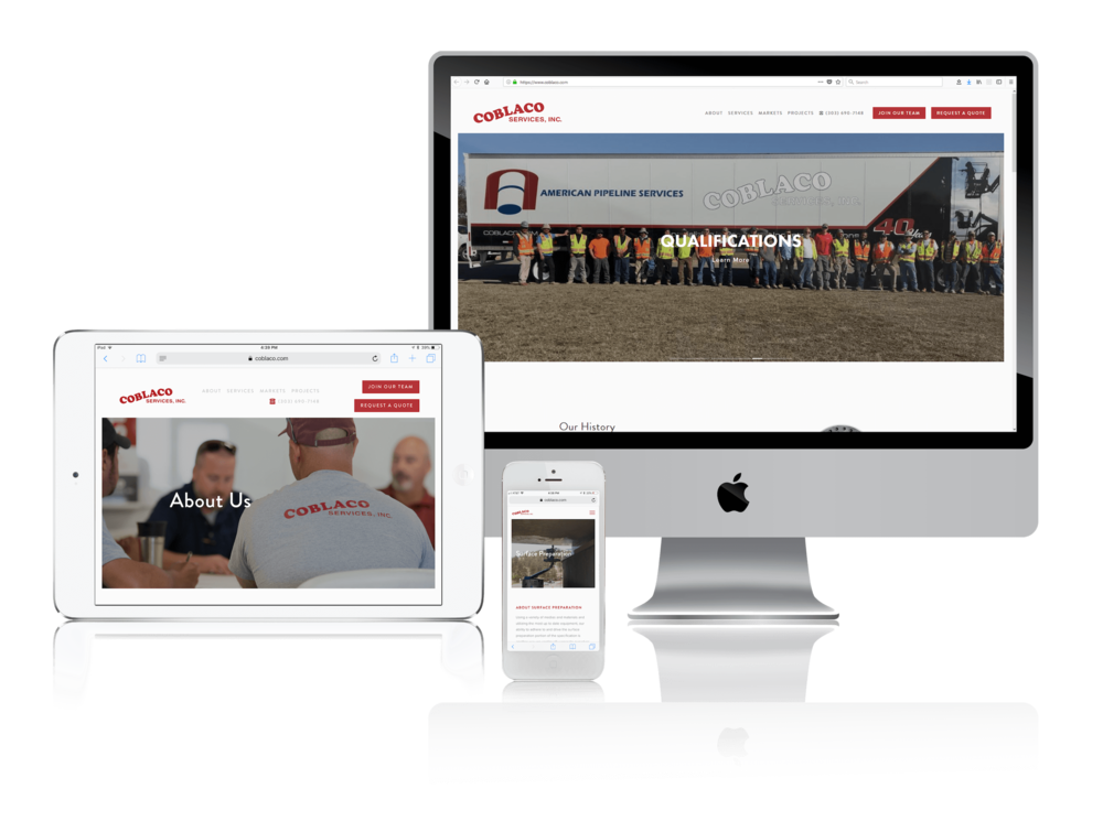 Squarespace for Industrial Coating and Pipeline Services