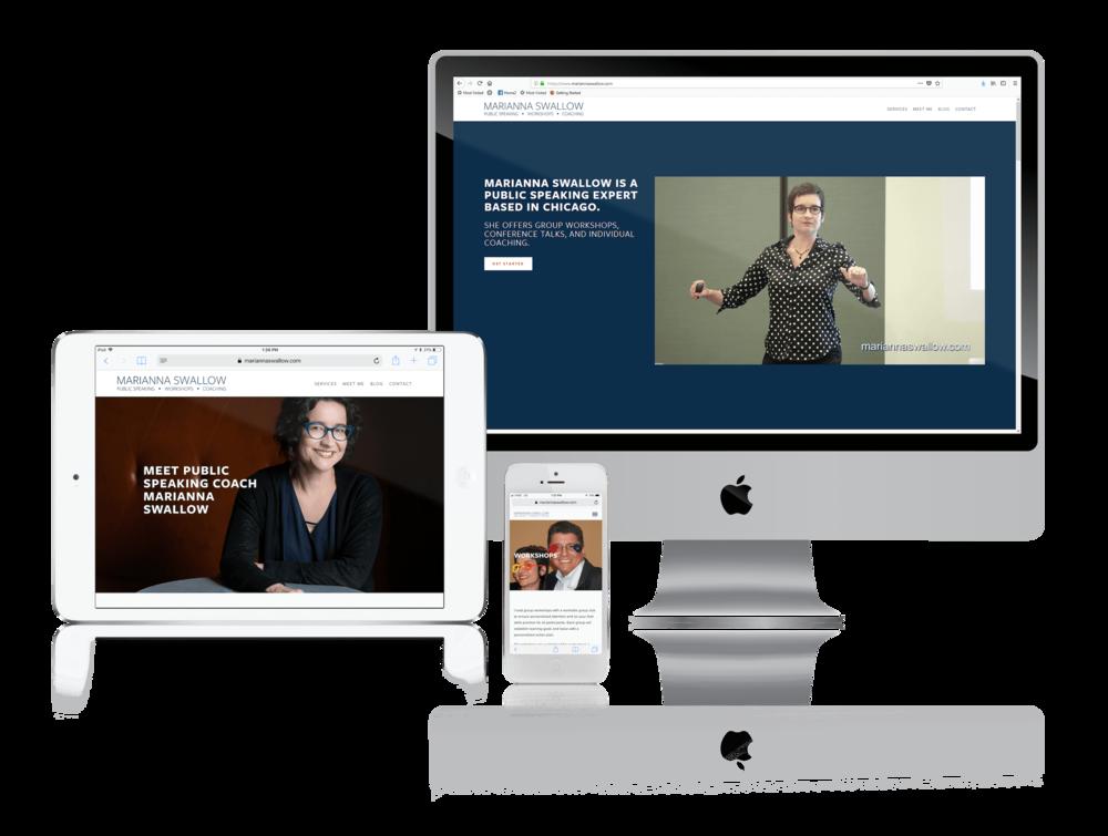 Squarespace for Public Speaking Coaches' Websites