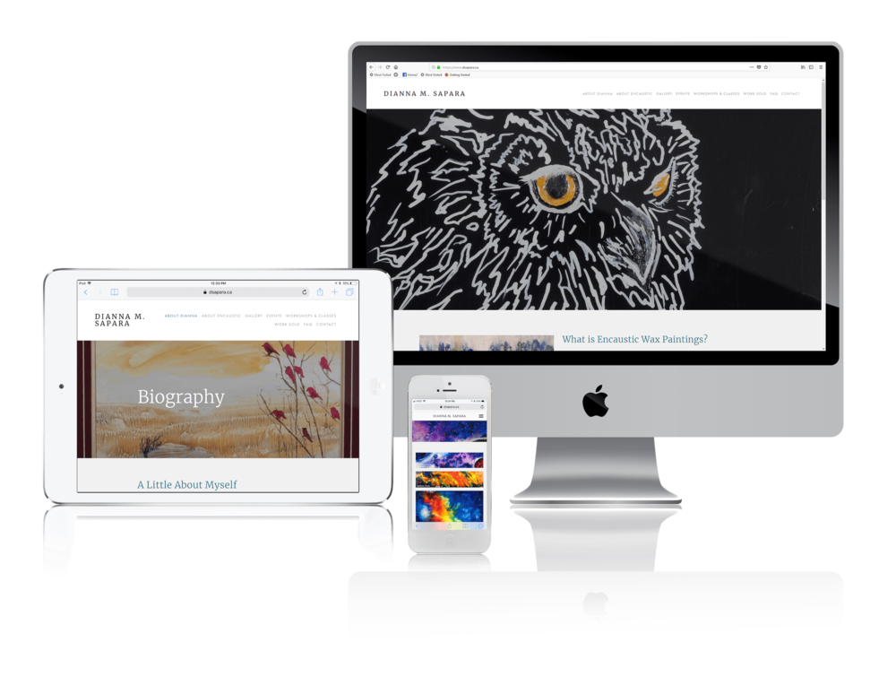 Squarespace for Encaustic Wax Painters' Websites