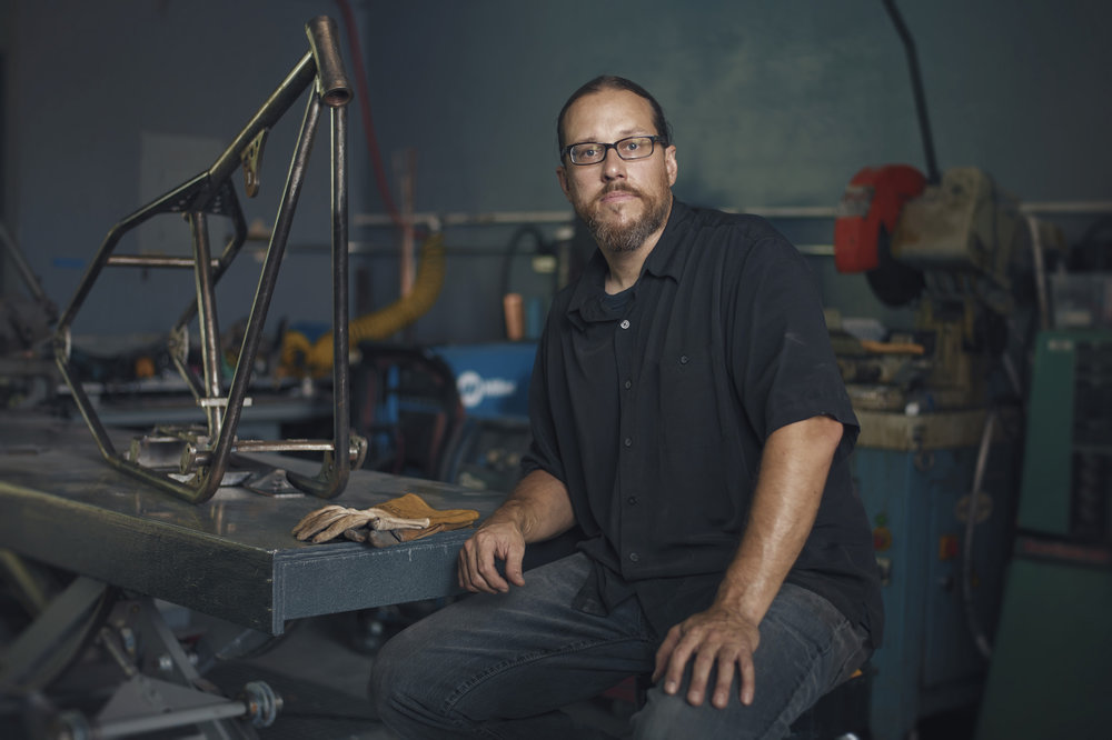 We did a series of these portraits for a welding school.