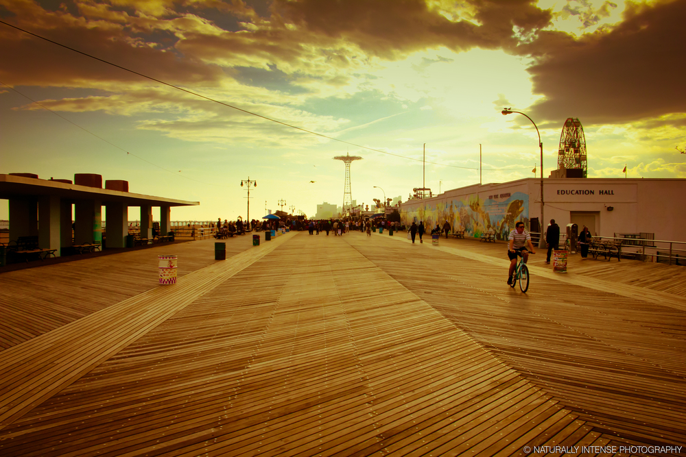 Coney Island Boardwalk- Shown before the concrete additions