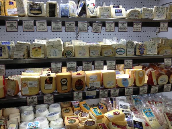 Rows of cheese.