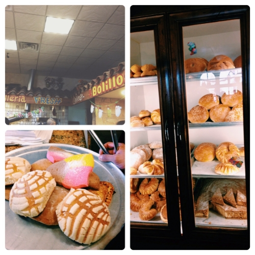 Another tradition. Picking up sweet breads (pan dulce) at El Bolillo.