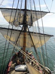 H  MS Bounty has featured in the films Treasure Island, Mutiny on the Bounty and Pirates of the Caribbean.  BBC