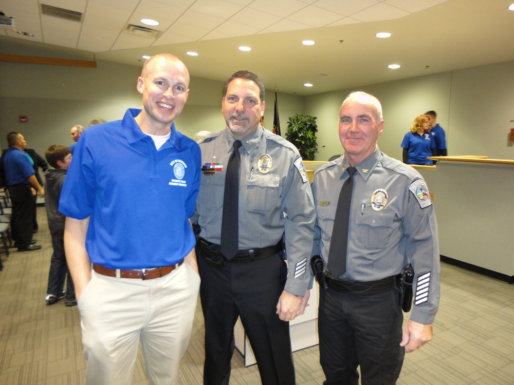 Todd with Captain Daniels and Former Chief Lietzke