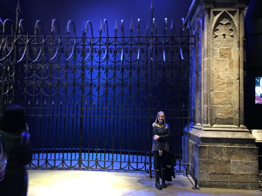 The gates to Hogwarts