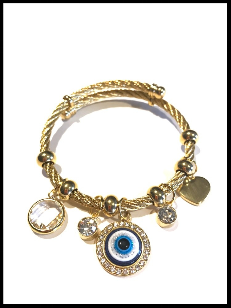 5. For the cool boho mom  -- why not gift her with an adjustable boho bangle that's easy to wear and great to mix with other bracelets? She'll love this wrap style bangle with adorable dangling charms.