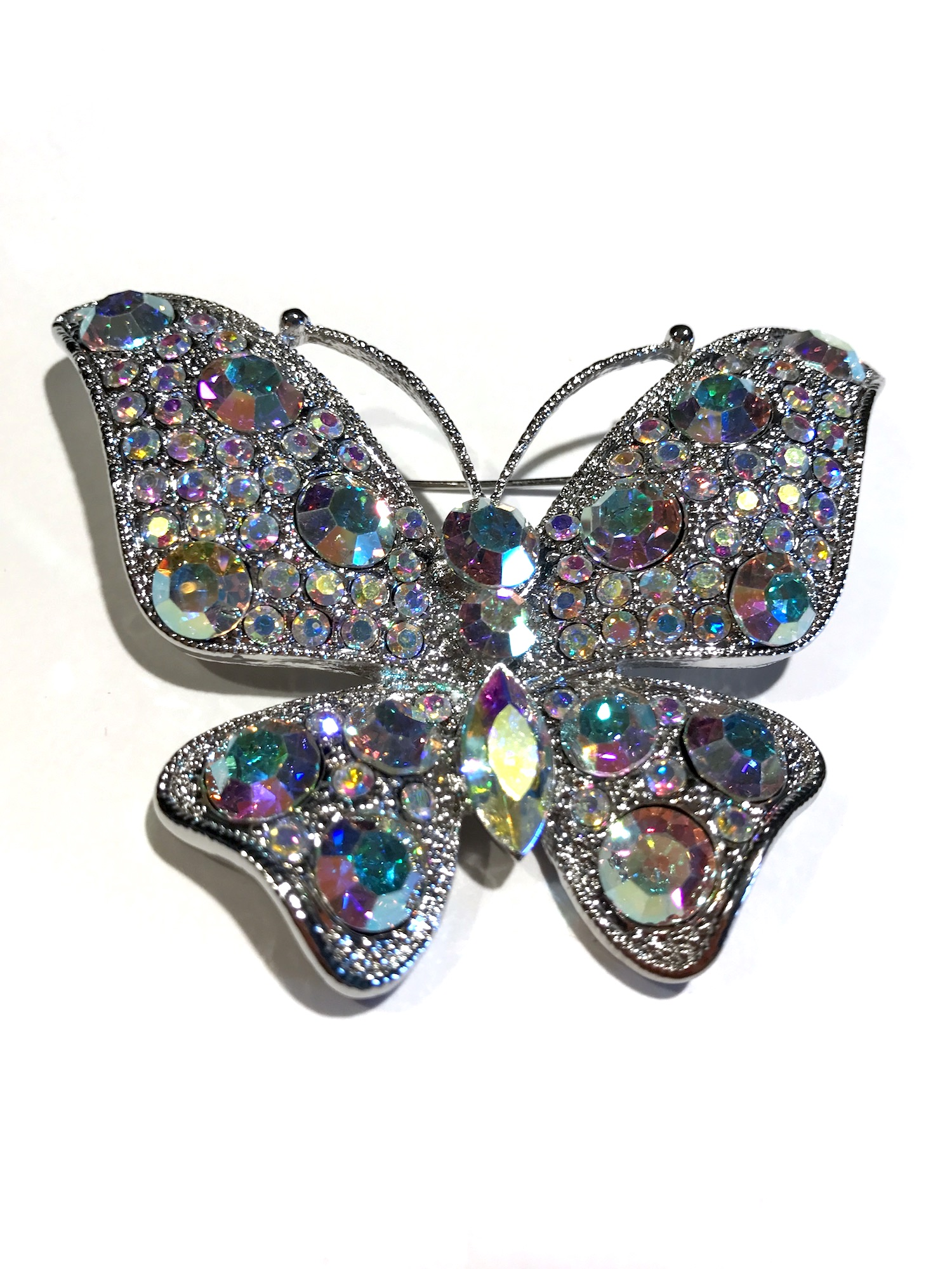 Rhinestone And Crystal Butterfly Pin ...