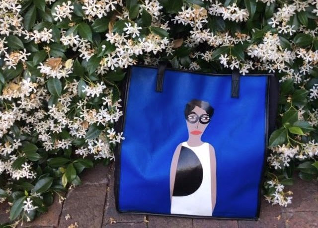 The Coco Tote featuring Patrick-Earl Barnes' Art of Fashion Folk.