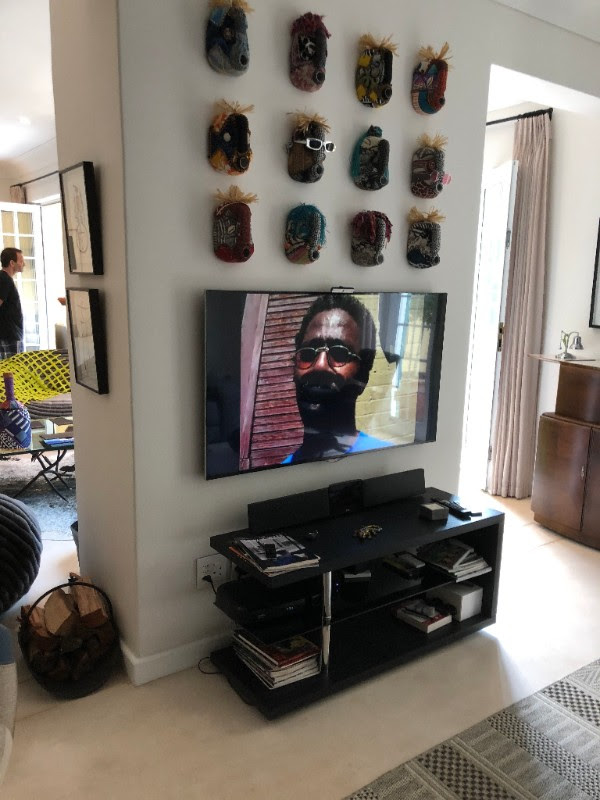 Patrick-Earl's interview playing at the Pop-Up.