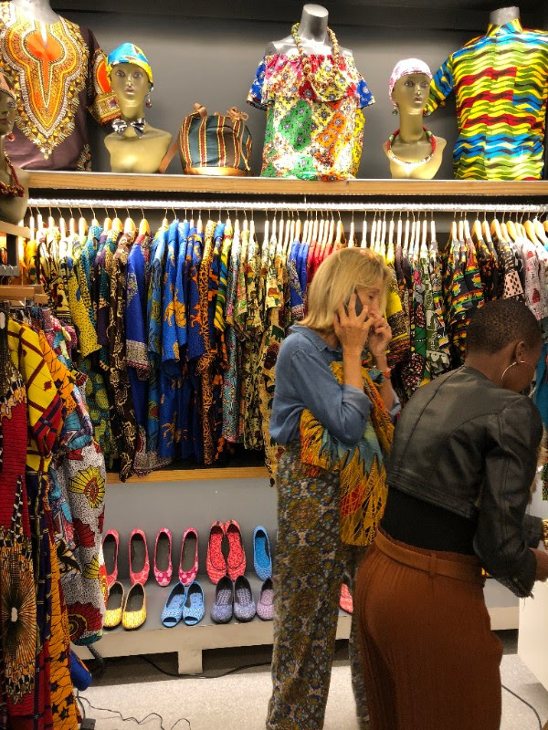 Shopping at Africhic Shop at the Waterfront.