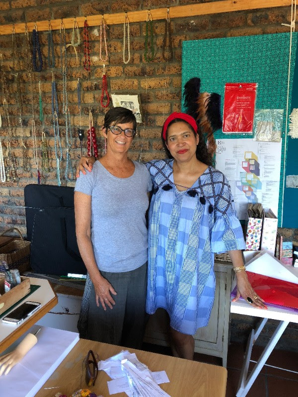 Visiting with Colleen of  African Baroque Textile Jewels .