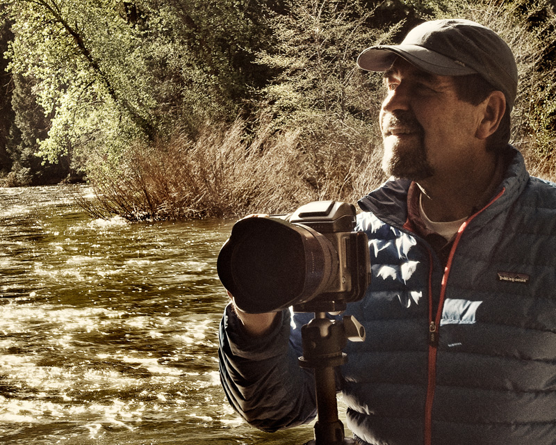 Paul lines up his shot along the Merced River in Yosemite National Park