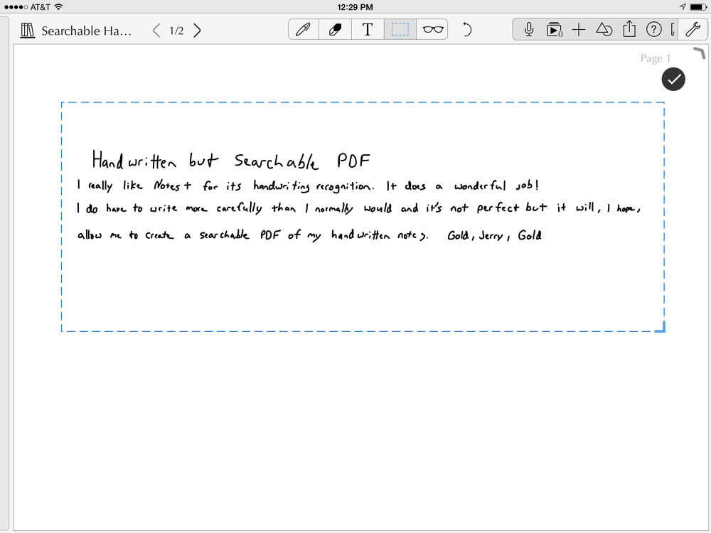 handwriting to pdf