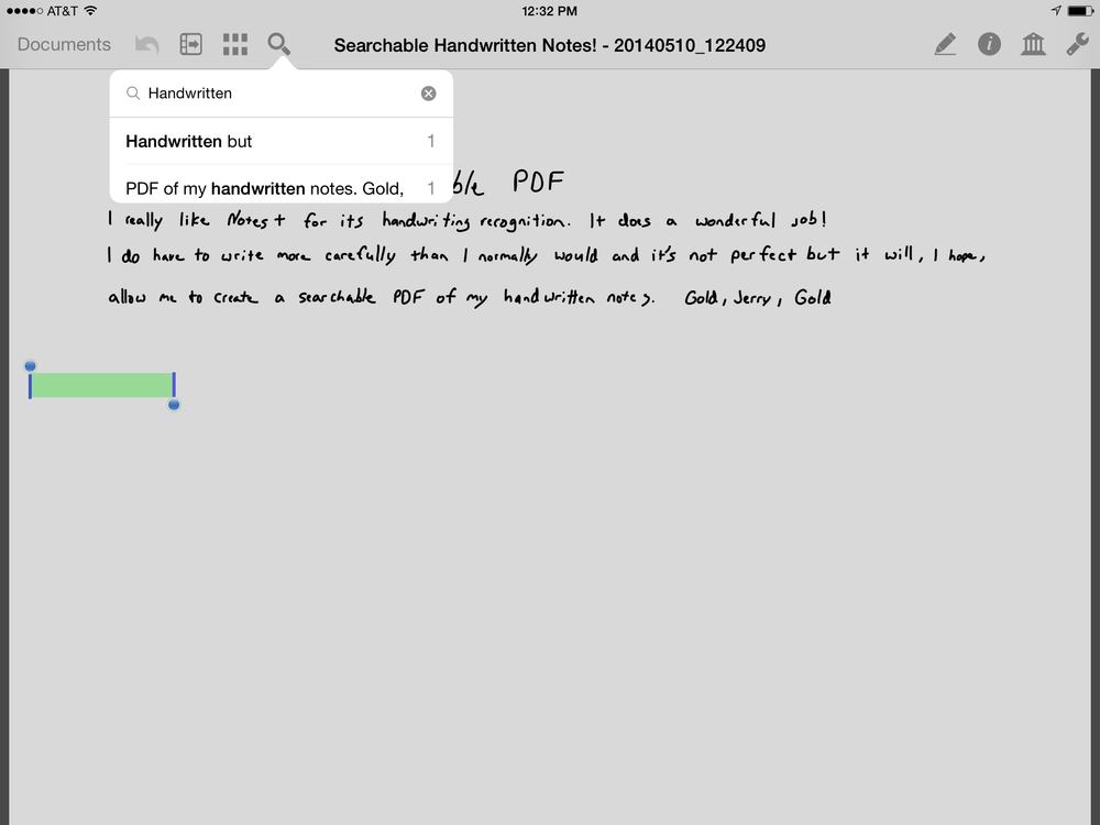 Here is the output in PDF Pen for iPad