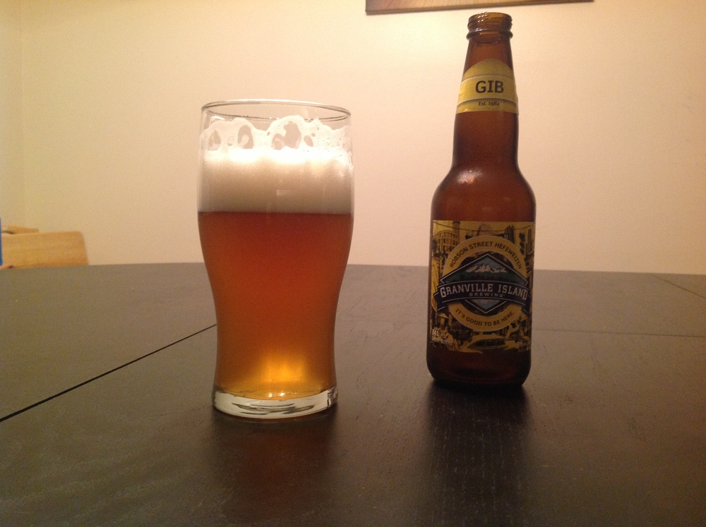 The beer of the hour: Granville Island Brewing's Robson Street Hefeweizen!