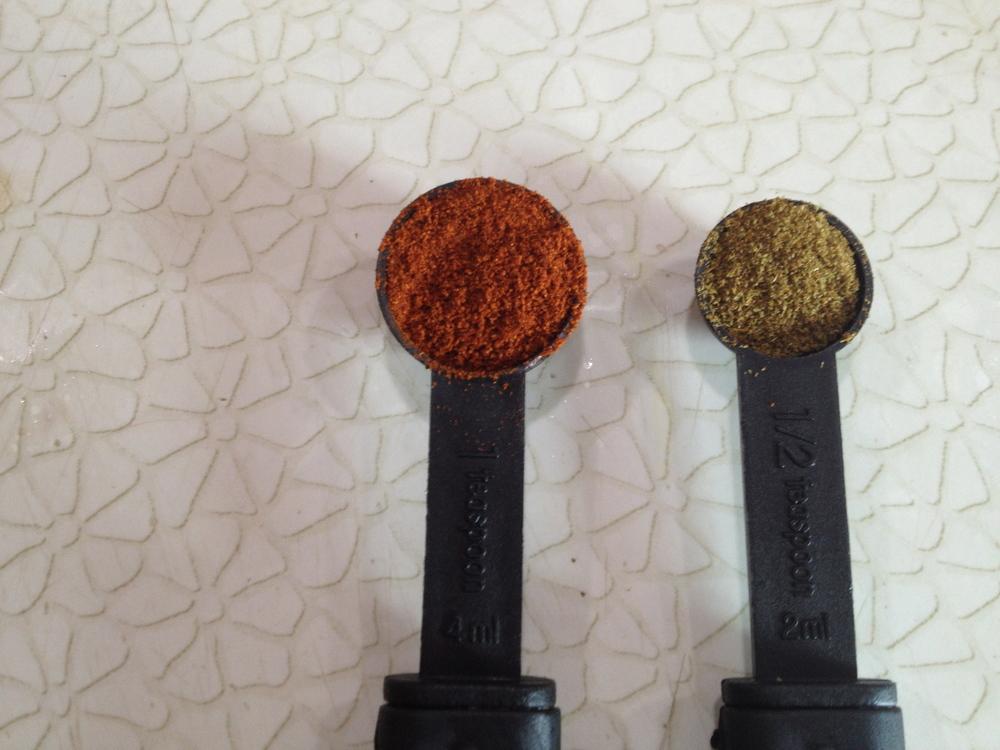 1 tablespoon paprika 1/2 tablespoon cumin