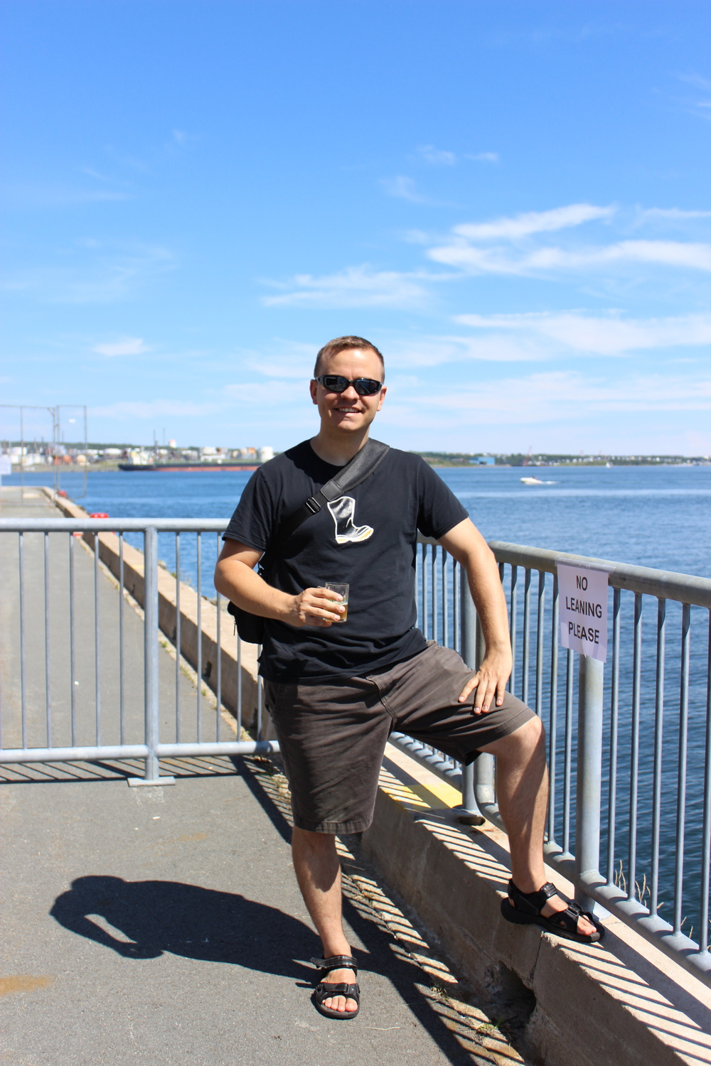 This was me by the waterfront, representing Ontario Craft Brewers with my Wellington shirt.