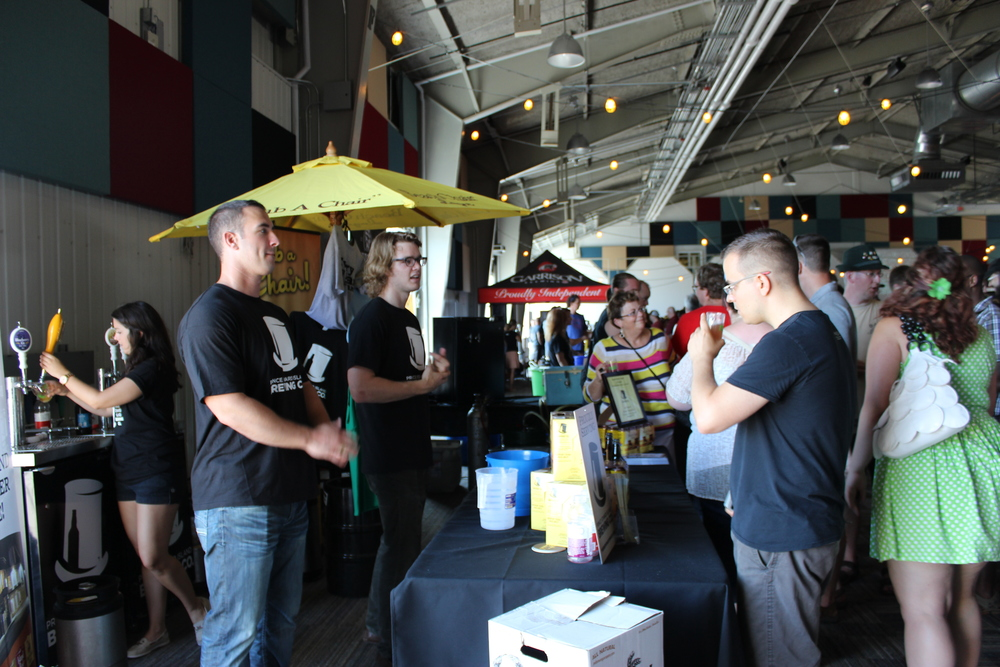 My initial tasting with the fine folks at the PEI Brewing booth.
