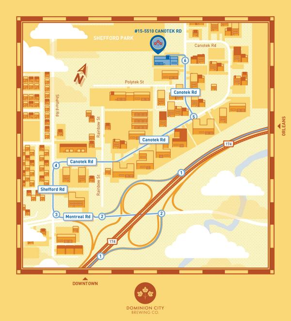 An awesome map on how to find the brewery.