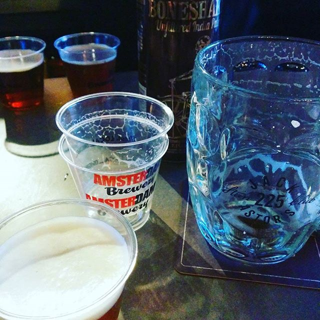 Stein Club @jackslansdowne enjoying a hoppy lineup from @amsterdambeer  Get down here and grab your flight. Great service, great beer, good times. #boneshaker #fracture