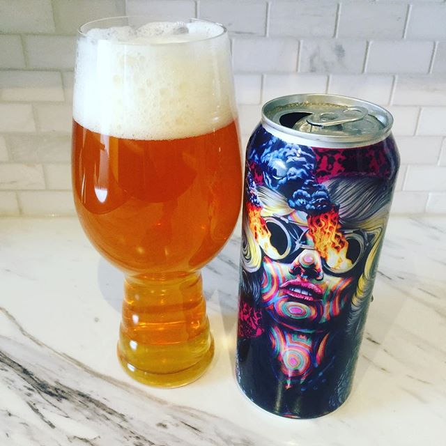 "As always, @collectivebrew kills it with their labeling! The can for ""Radio the Mothership Imperial IPA"" is sick! The artist featured on this is Joshua Roman, I can't wait to check out some of his other work. And the beer? Super smooth and juicy for an IIPA. Nice tropical fruit notes balanced with a nice amount of bitterness. There's a nice malt sweetness on the backend, too. Nothing too overpowering, and you can tell this is well crafted. Ideally, I would want a little more ""pop"" in an IIPA - where the flavour profile just jumps out and slaps you in the face, y'know? - but this is coming up on a month old... so it may have lost some of that initial boldness one would usually get. Either way, this is still fantastic and I'm glad I picked up a second to enjoy later this week! #ontariocraftbeer #imperial #ipa #iipa #craftbeer"