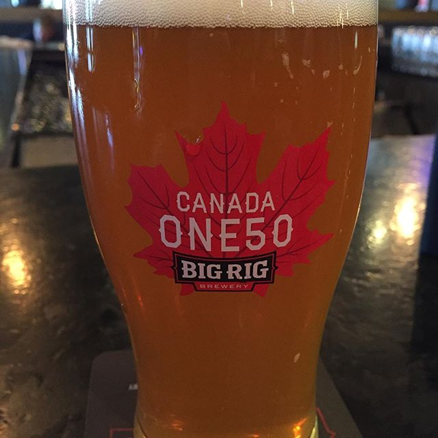 Wedding day for one of our members! With a few hours to kill between the ceremony and the reception, we figured we'd swing by @bigrigbrewery for a quick pint. Alpha Bomb is the perfect thirst quencher on this beautiful summer day! #613beer #AlphaBomb #IPA #craftbeer #ontariocraftbeer