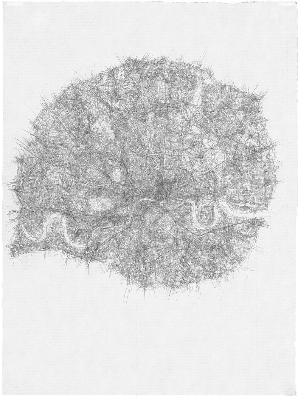 City Drawings Series - London-n13 1997 pencil on paper 31 x 21 cm / 12.2 x 8.3 in. Click the picture for source.