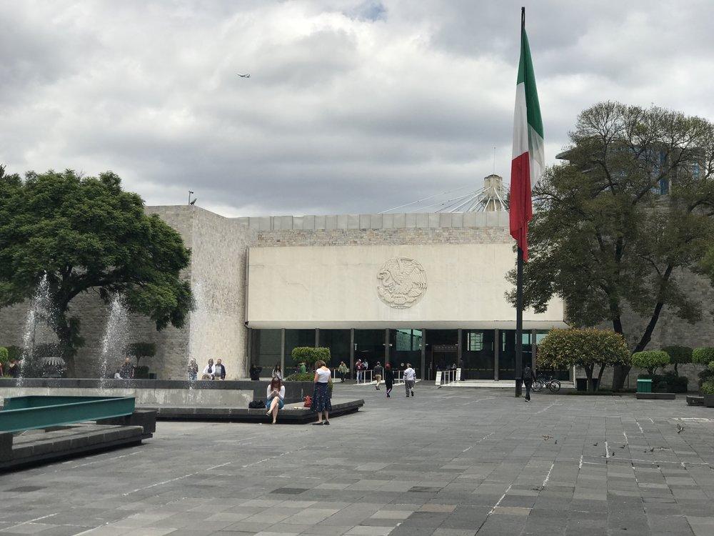 Facade of the Museo Nacional de Antropología (MNA)