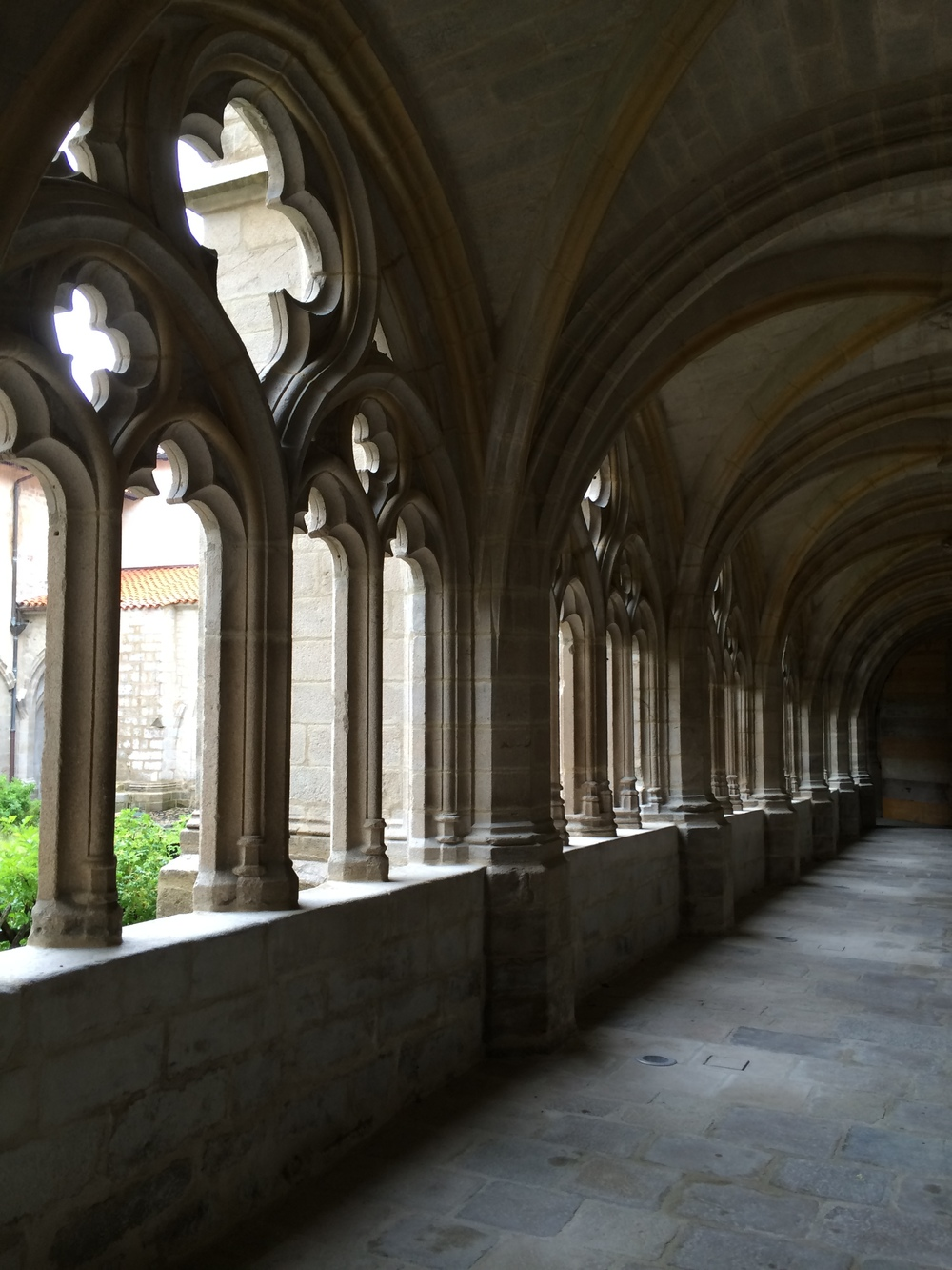 This is the abbey courtyard